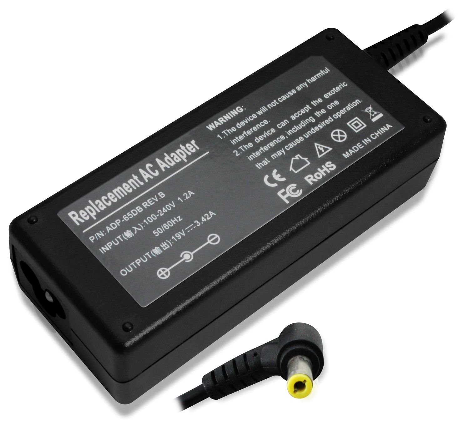 Replacement AC Power Laptop Adapter Charger 65W 19V 3.42A ...